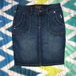 Baby Phat denim skirt